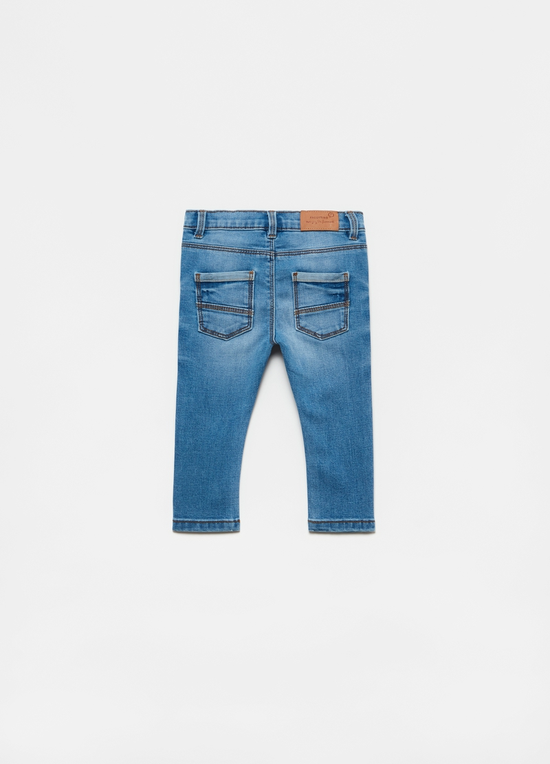 Stretch cotton blend jeans image number null