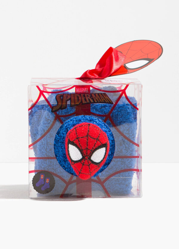 Calze antiscivolo con patch Spiderman