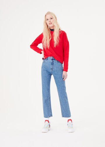 Jeans mom fit basic effetto vintage