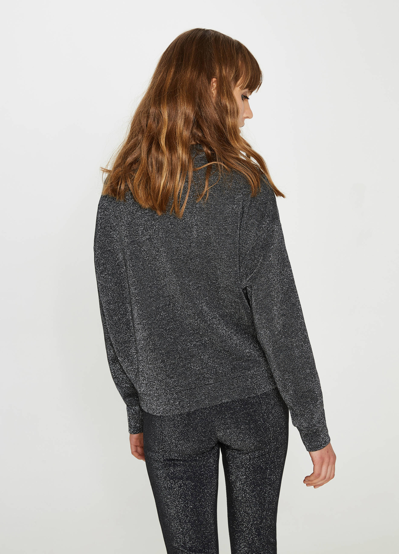 Cotton and viscose sweatshirt with lurex image number null
