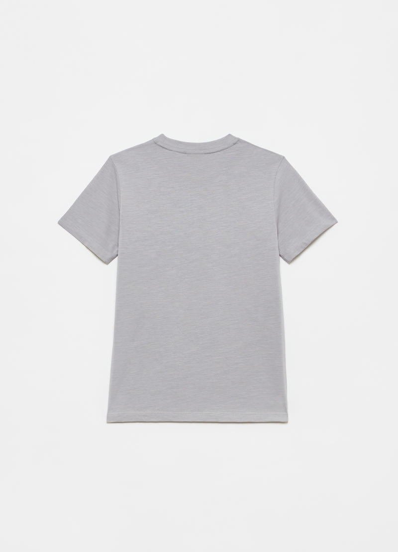 Cotton T-shirt with embroidered lettering image number null