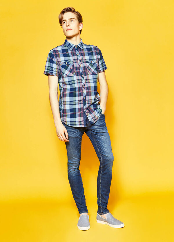 G&H casual tartan shirt in cotton | OVS
