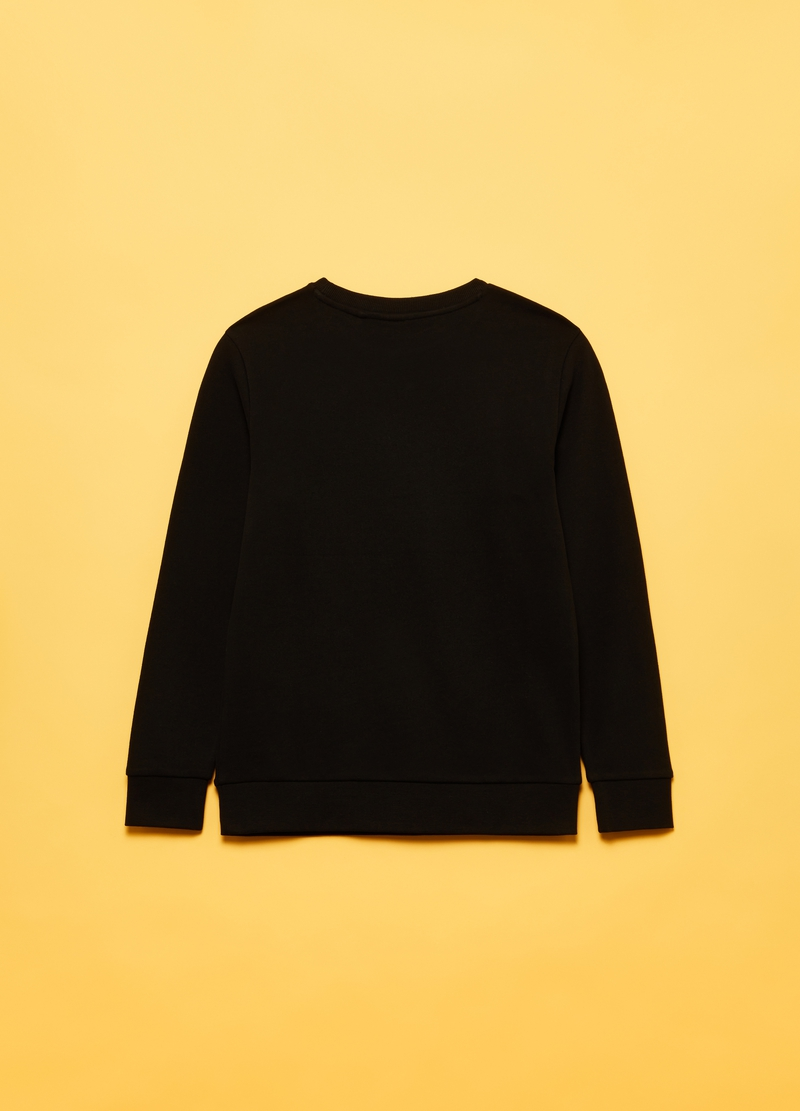 Round neck sweatshirt with print image number null