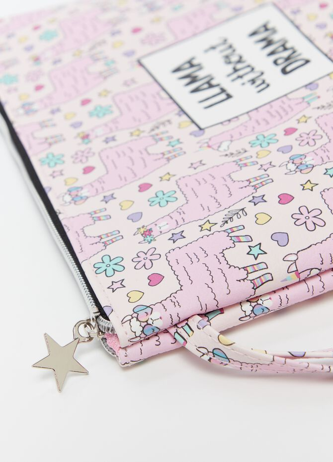 Case with zip and pattern