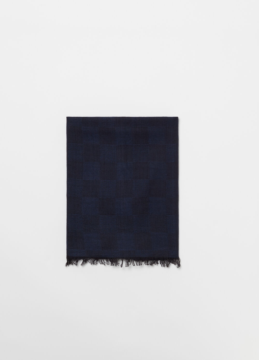 Viscose and cotton scarf with jacquard