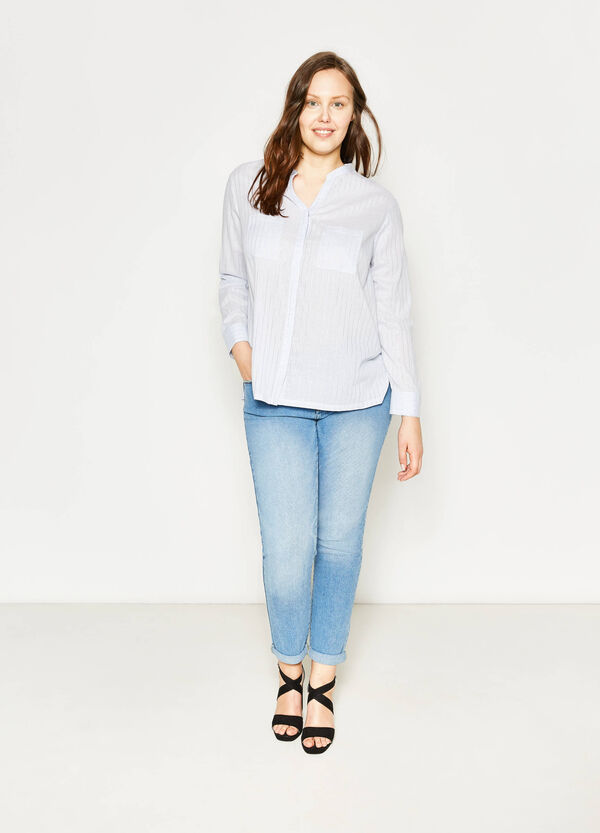 Curvy V-neck blouse | OVS