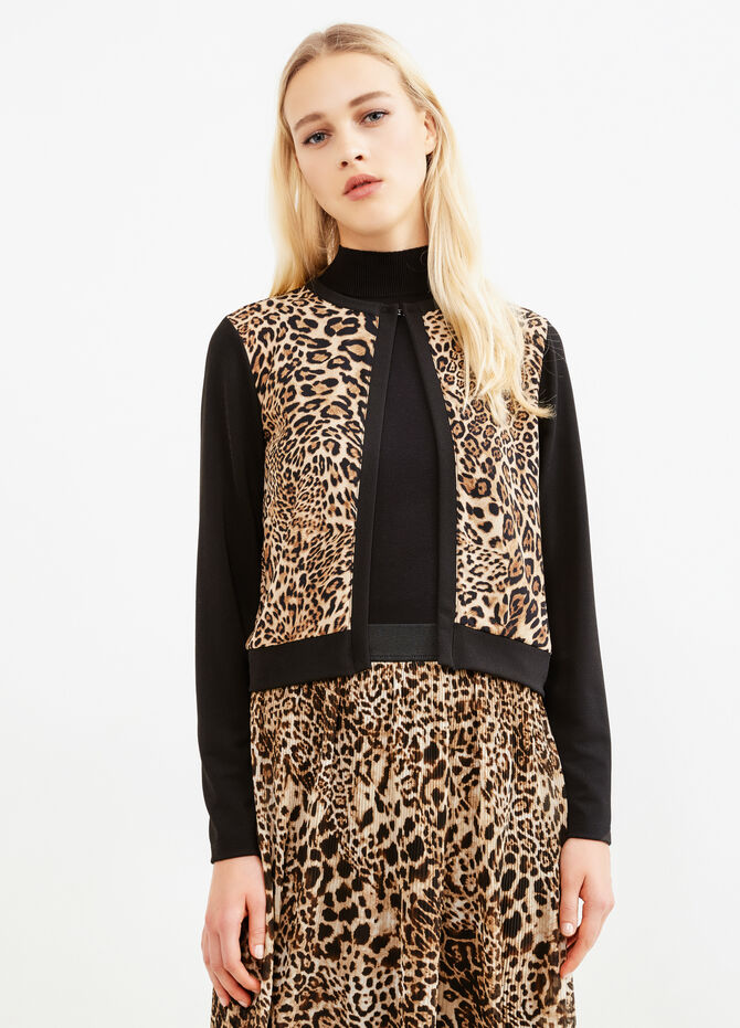 Stretch animal print blazer