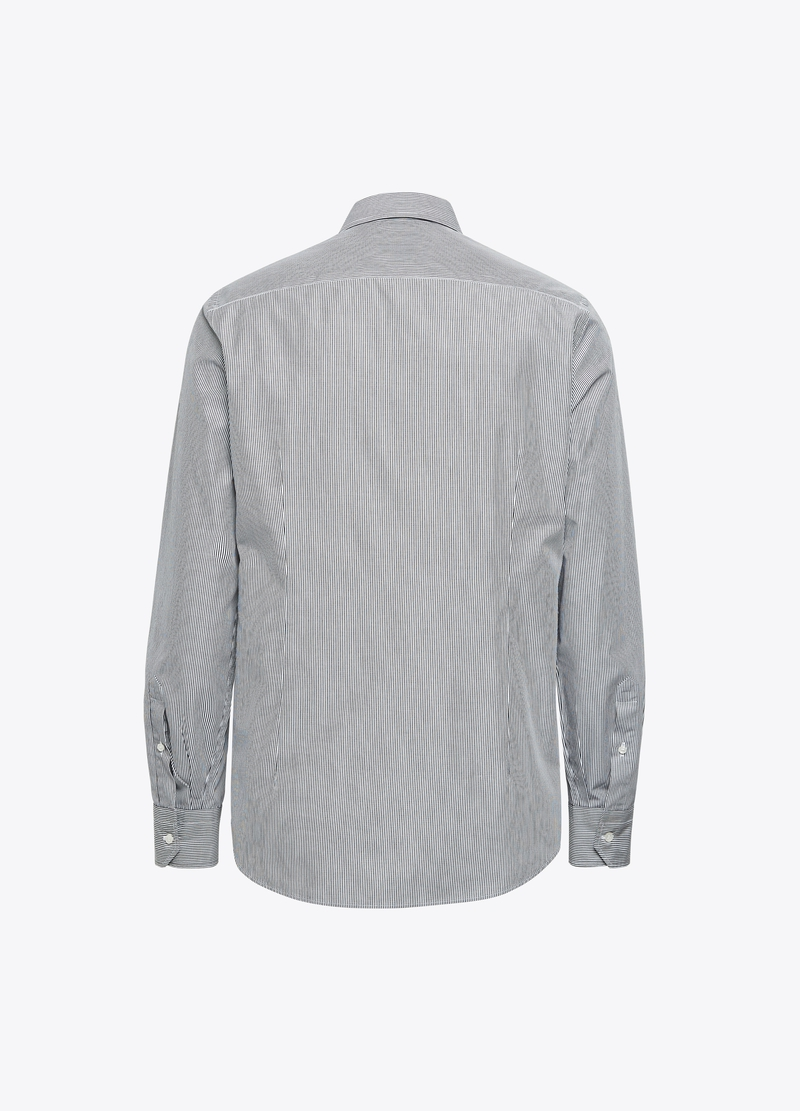 PIOMBO Camicia cotone a righe image number null