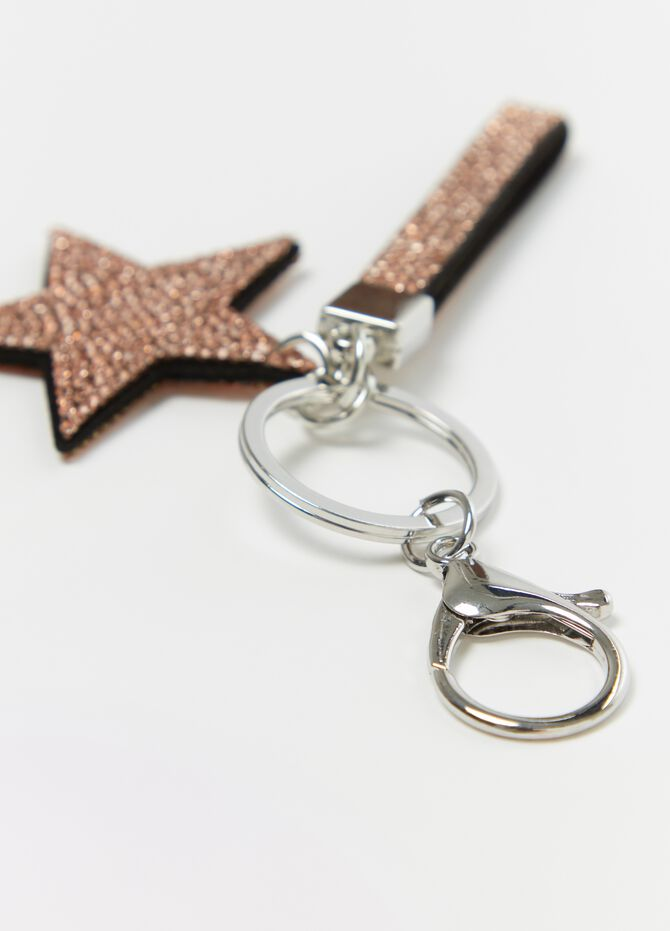 Star key chain with diamantés