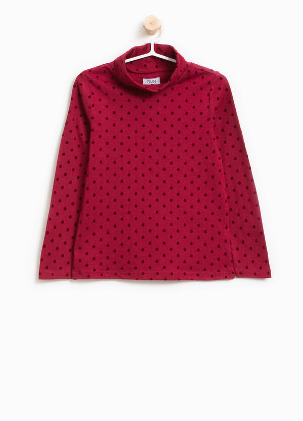 Lupetto in cotone stretch a pois | OVS