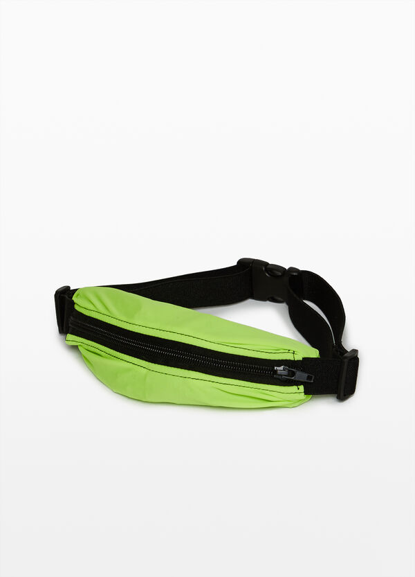 Solid colour belt bag with zip