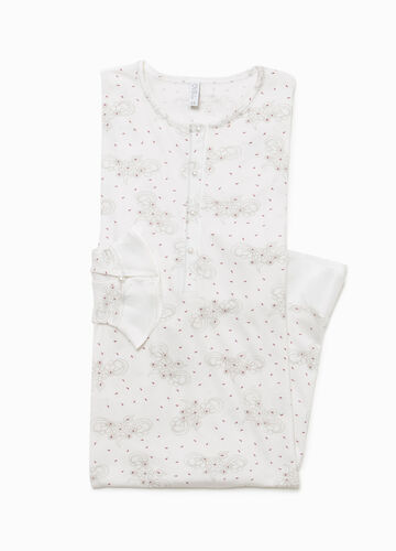 Modal and cotton nightshirt with print