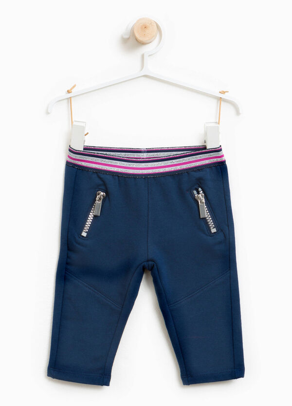 Stretch cotton trousers with zip | OVS