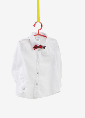 100% cotton shirt with tartan bow tie