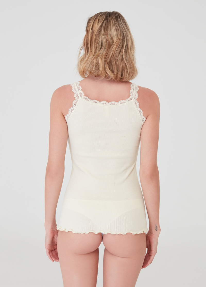 100% cotton under vest with lace image number null