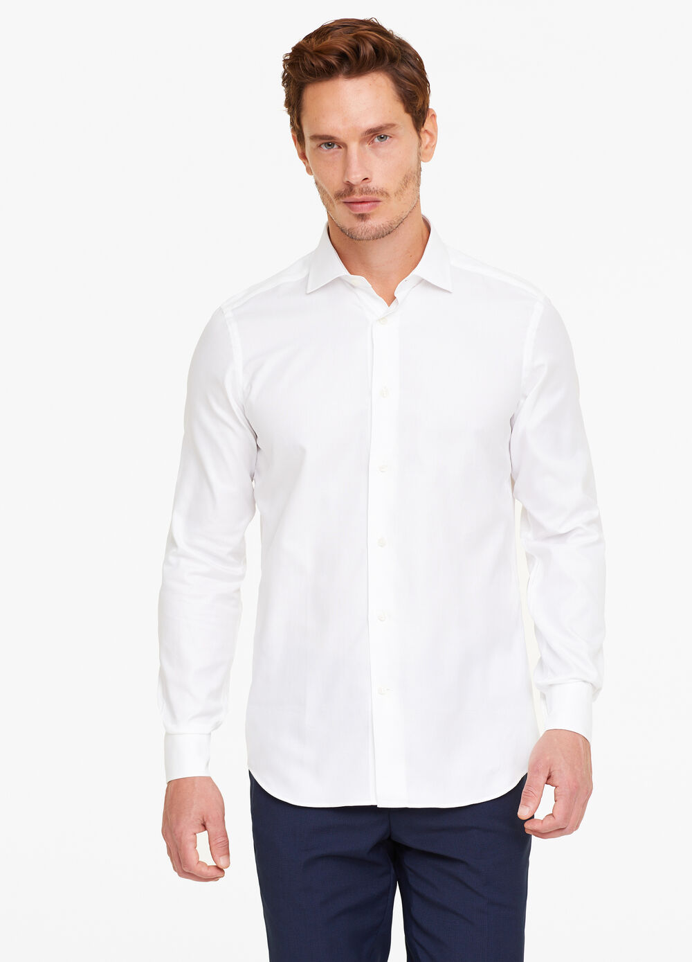 Slim-fit shirt with micro weave