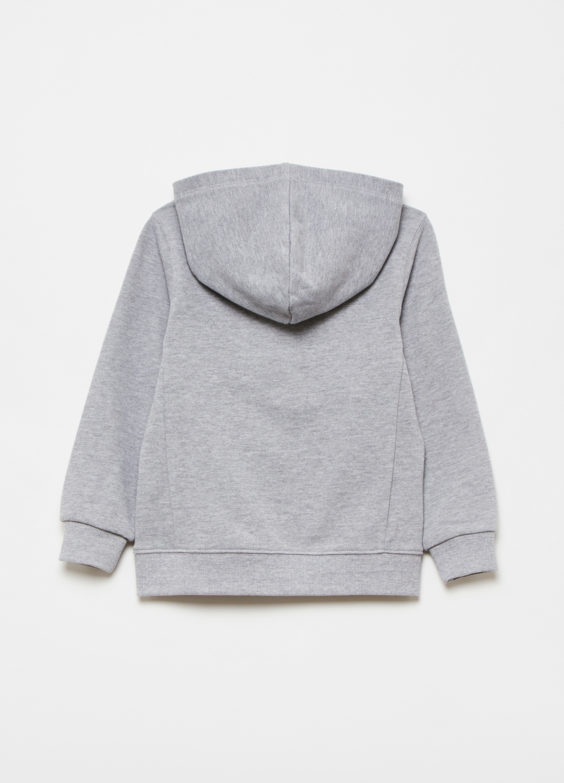 Full-zip sweatshirt in viscose and cotton image number null