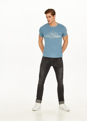 Cotton T-shirt with pocket and lettering