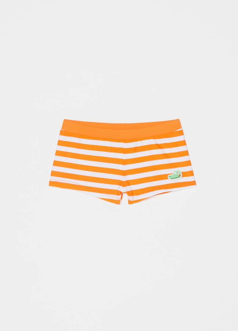 Striped swimming trunks image number null