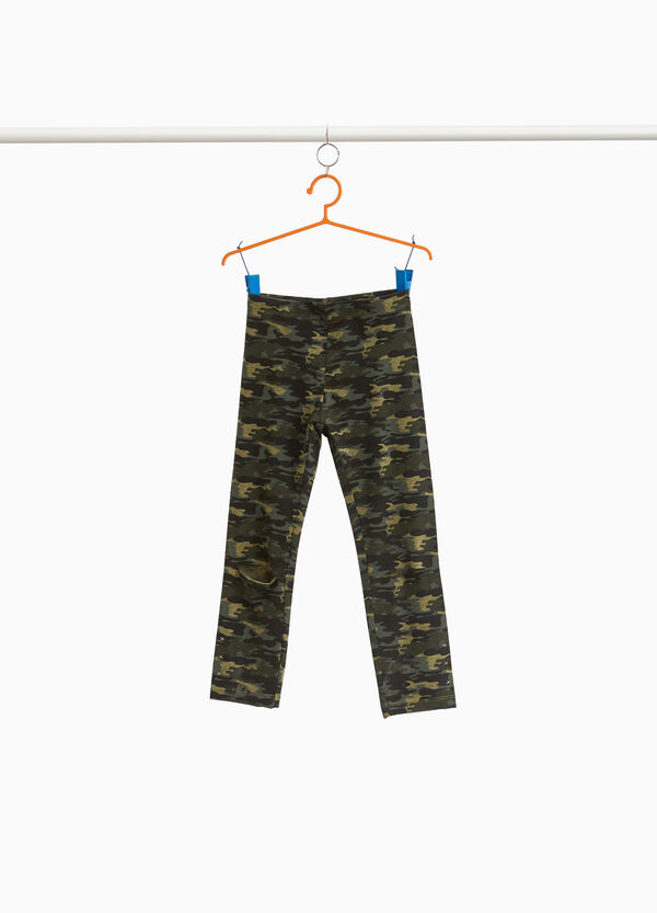 Leggings cotone stretch camouflage