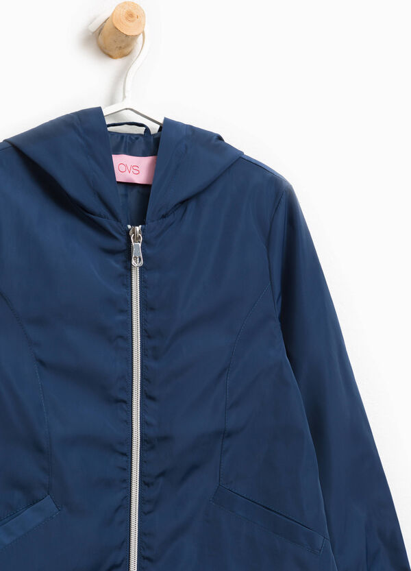 Jacket with zip and hood | OVS