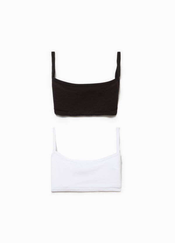 Two-pack organic cotton bandeau bras