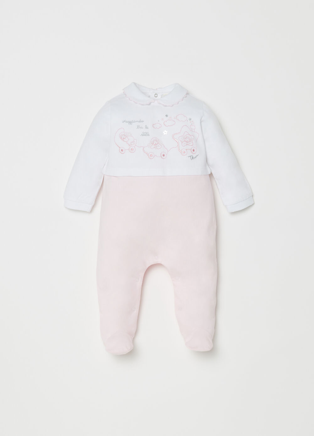 THUN organic cotton onesie with feet