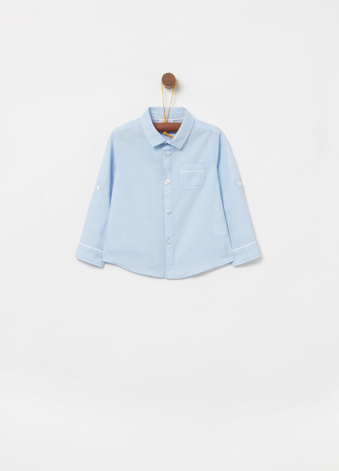 100% cotton shirt with small pocket
