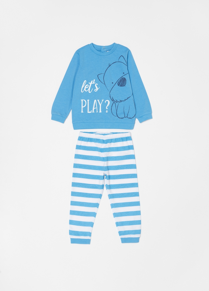 Pyjamas in 100% organic cotton with print image number null
