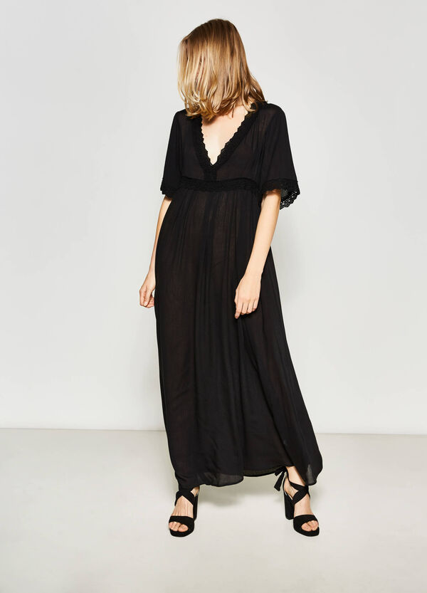 Long dress with lace | OVS