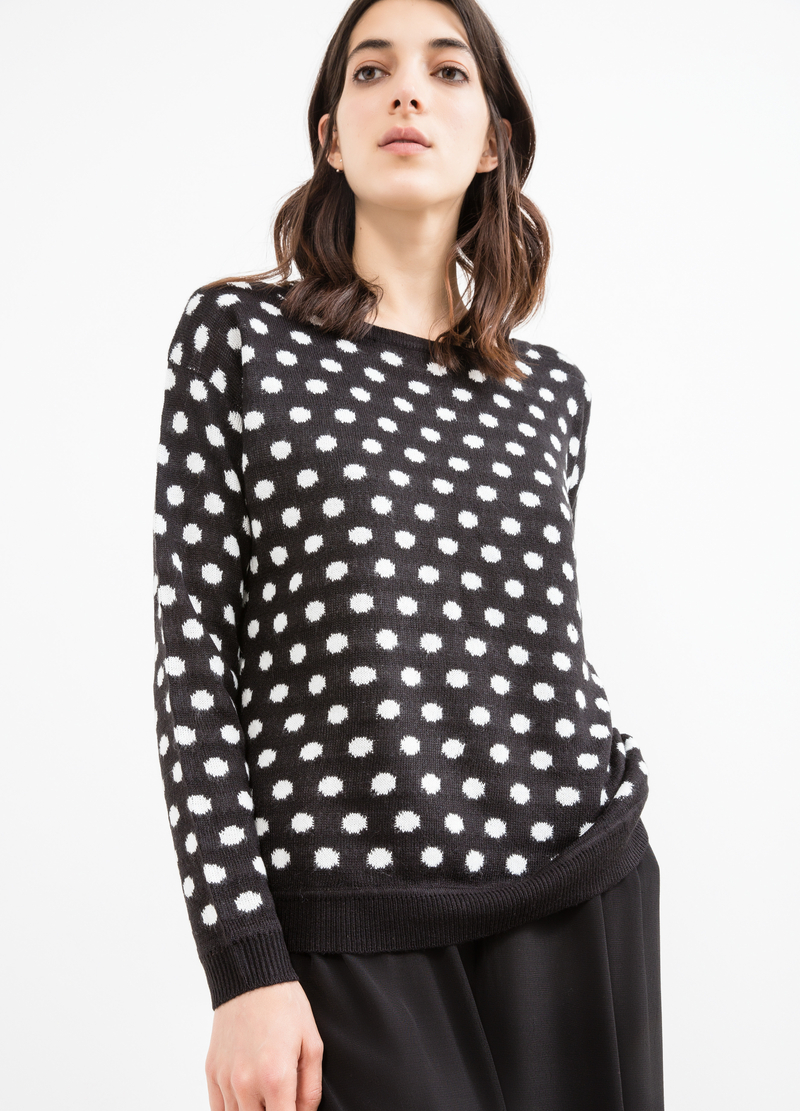 Pullover fantasia a pois image number null