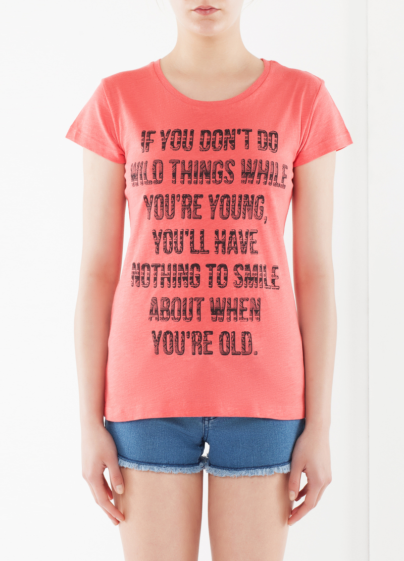 T-shirt cotone con scritta image number null