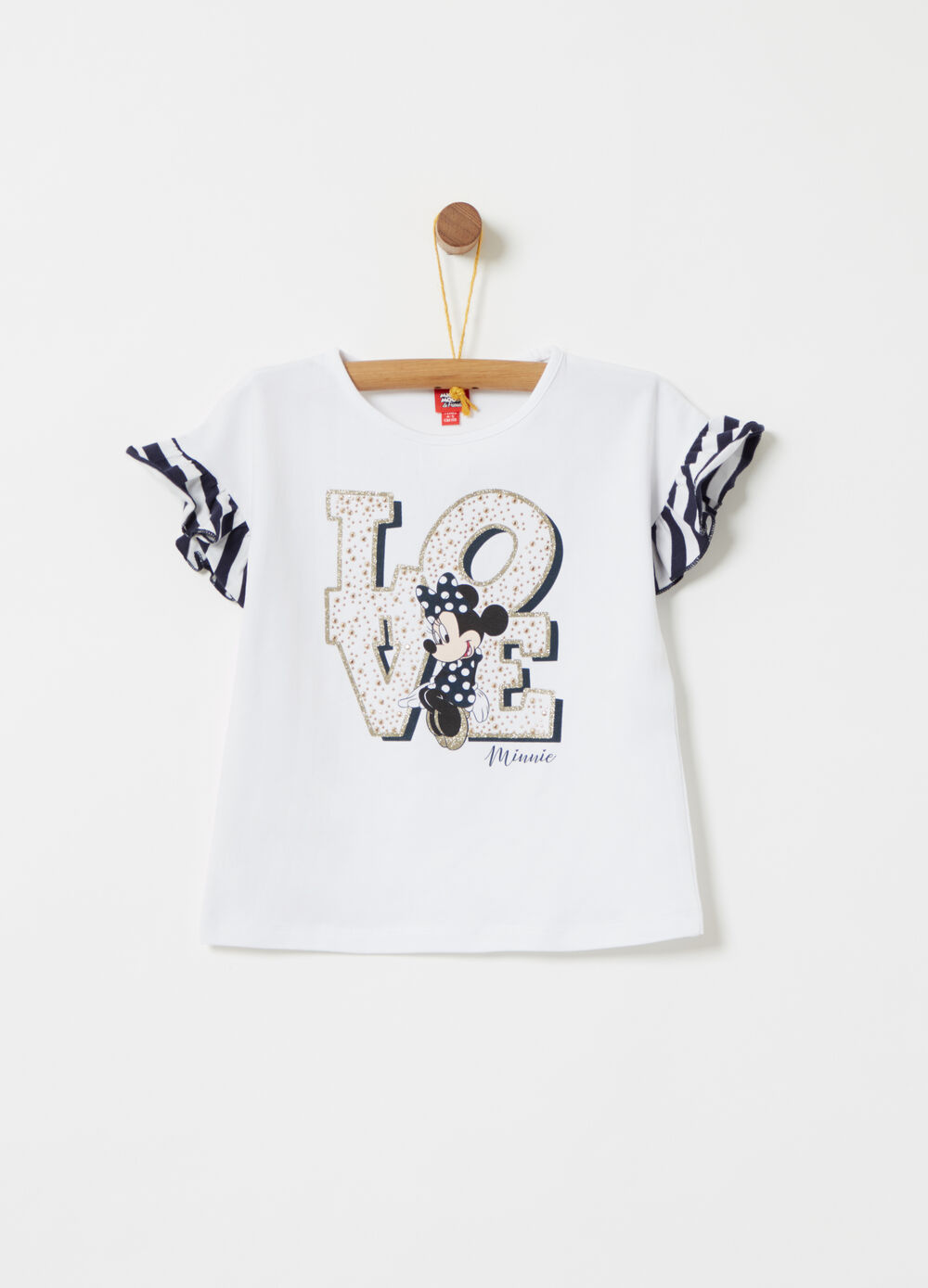T-shirt stampa Disney Minnie e borchiette