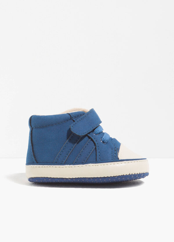 High-top sneakers in solid colour fabric | OVS