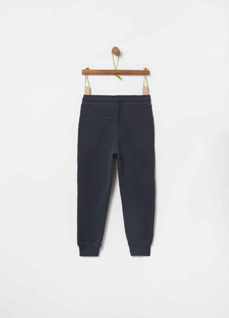 Jogger in puro cotone bio con coulisse image number null