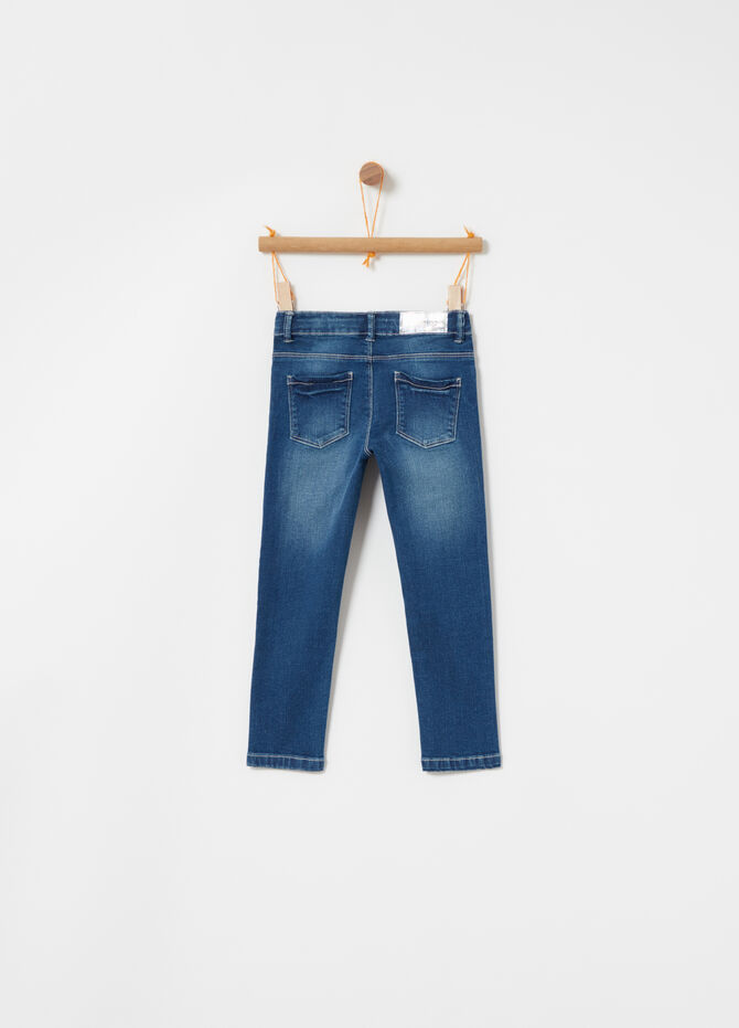 Jeans superskinny stretch con ricamo