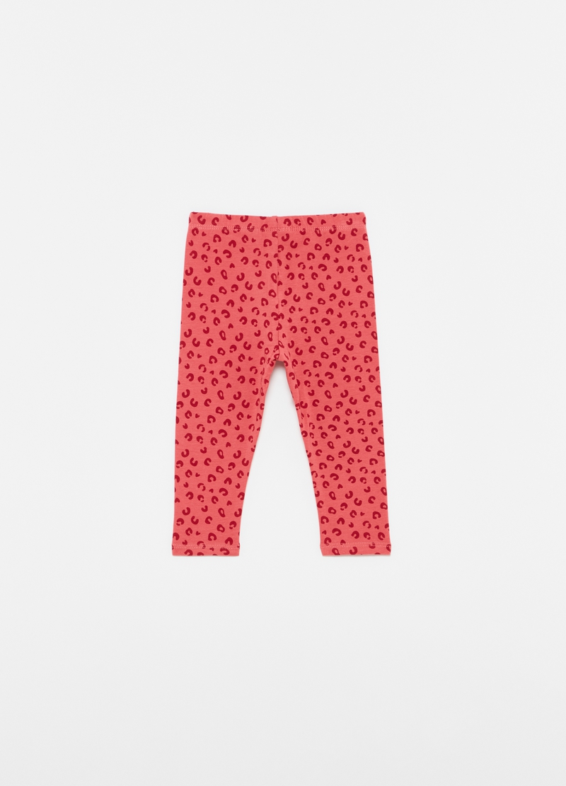 Leggings with all-over animal print image number null