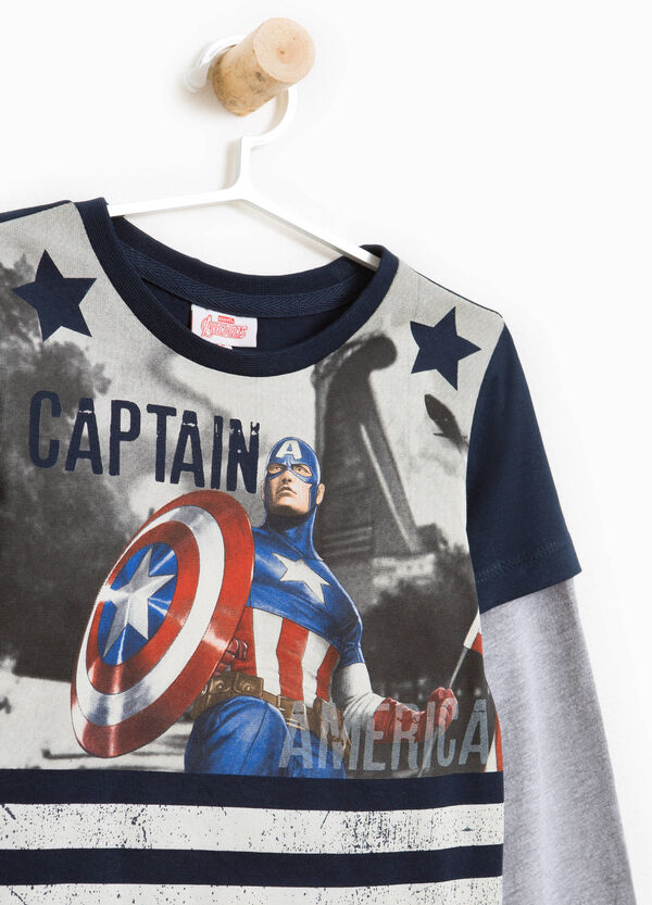 T-shirt with maxi Captain America print | OVS