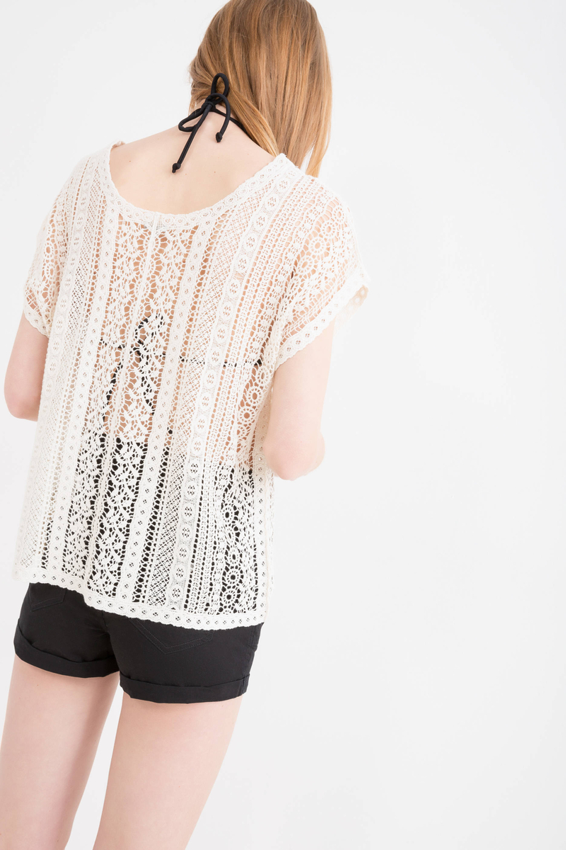 100% cotton openwork T-shirt image number null