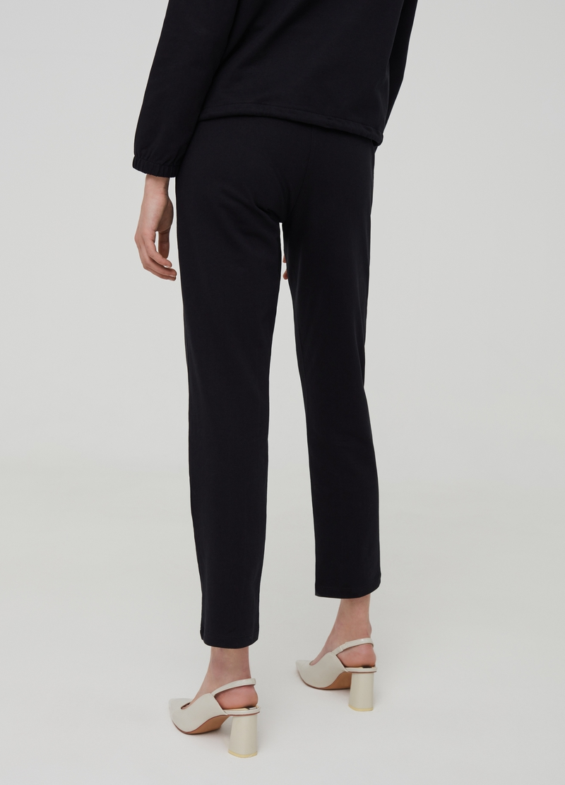 Solid colour 100% organic cotton trousers image number null