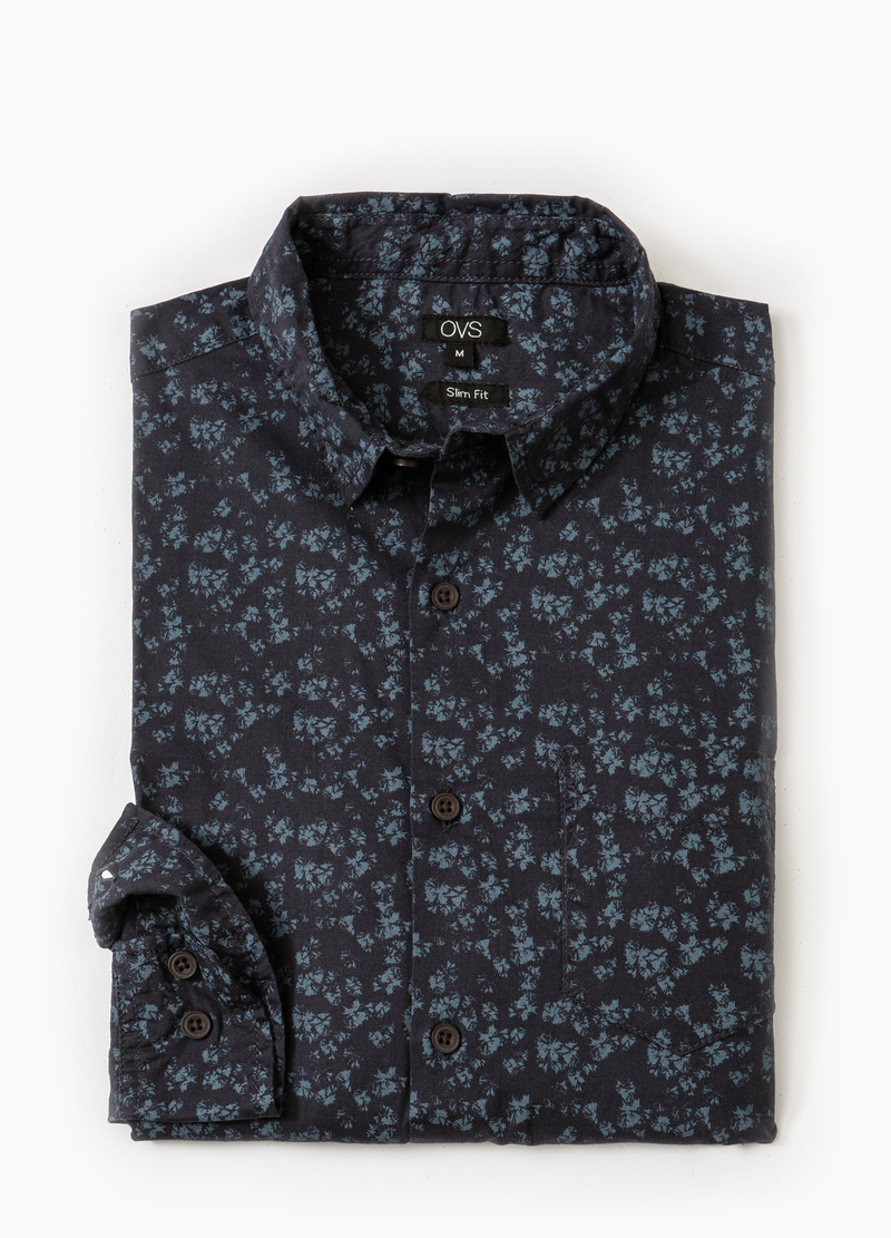 Camicia casual slim fit stampa all-over image number null