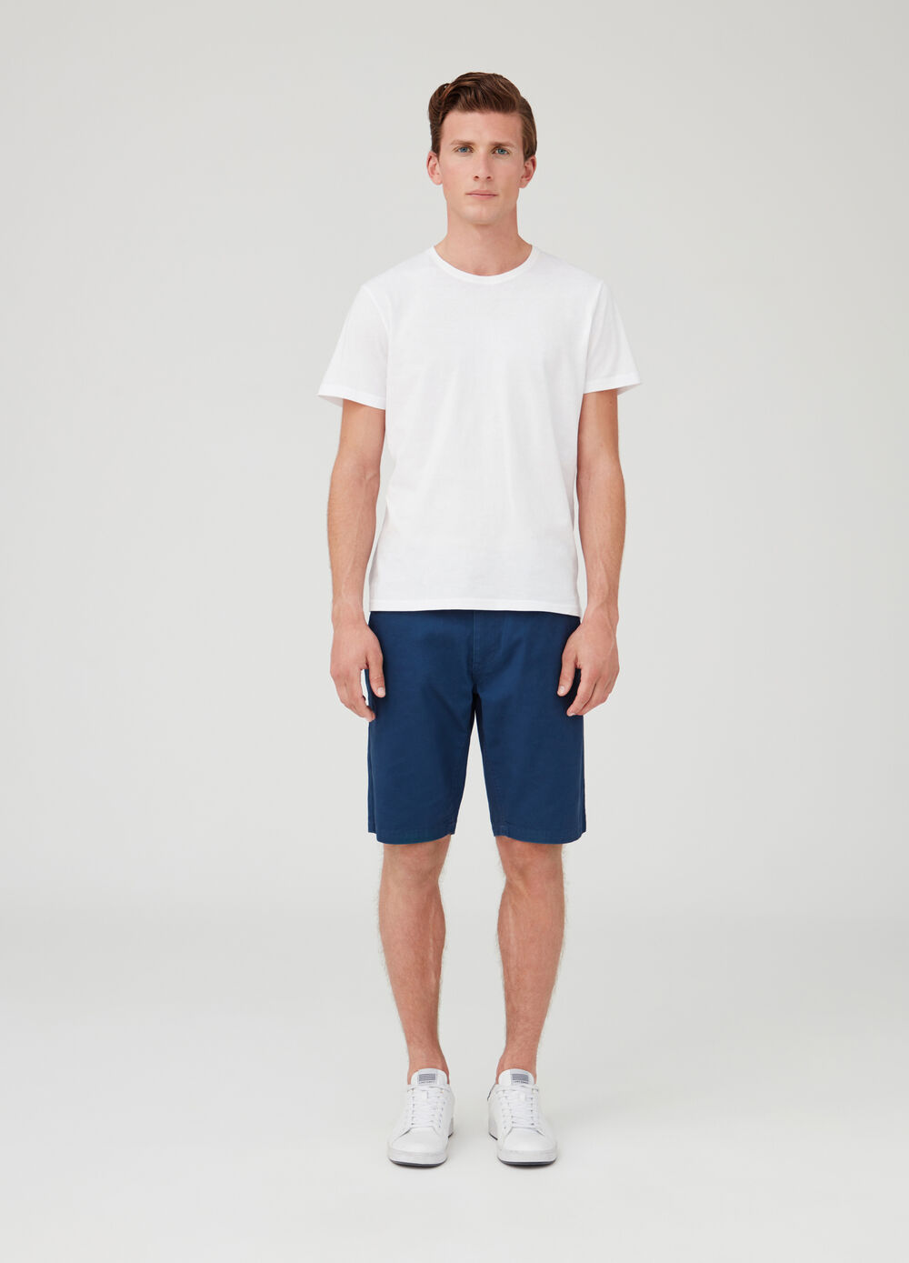Ribbed T-shirt in 100% cotton jersey