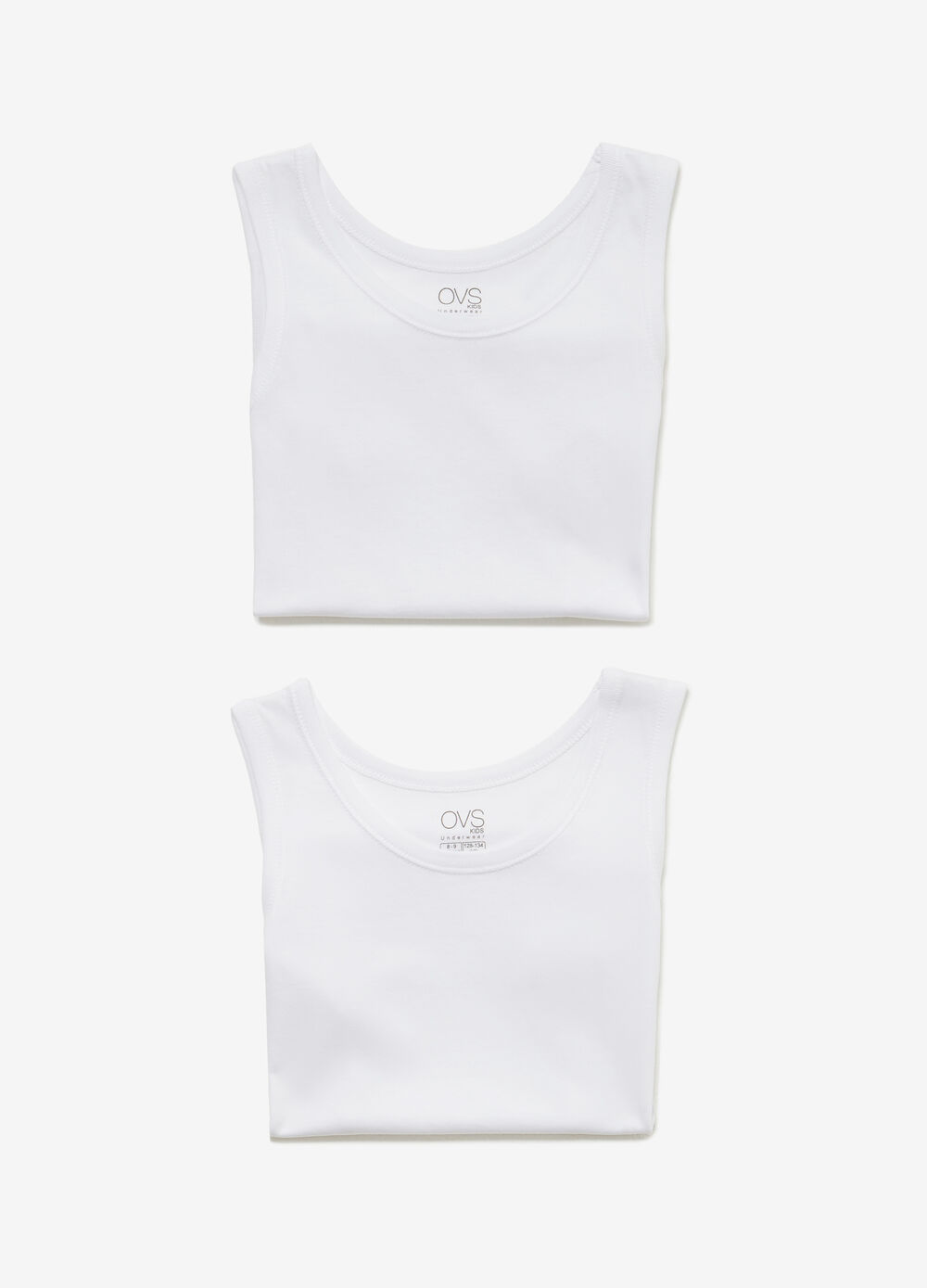 Set of two cotton under vests
