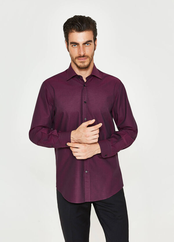 Camicia formale regular fit puro cotone