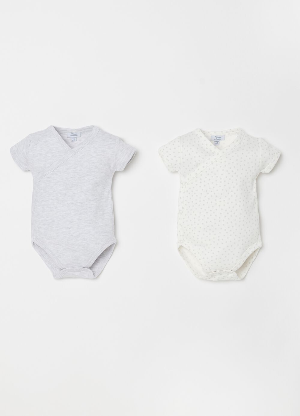 Set due body in biocotton maniche corte