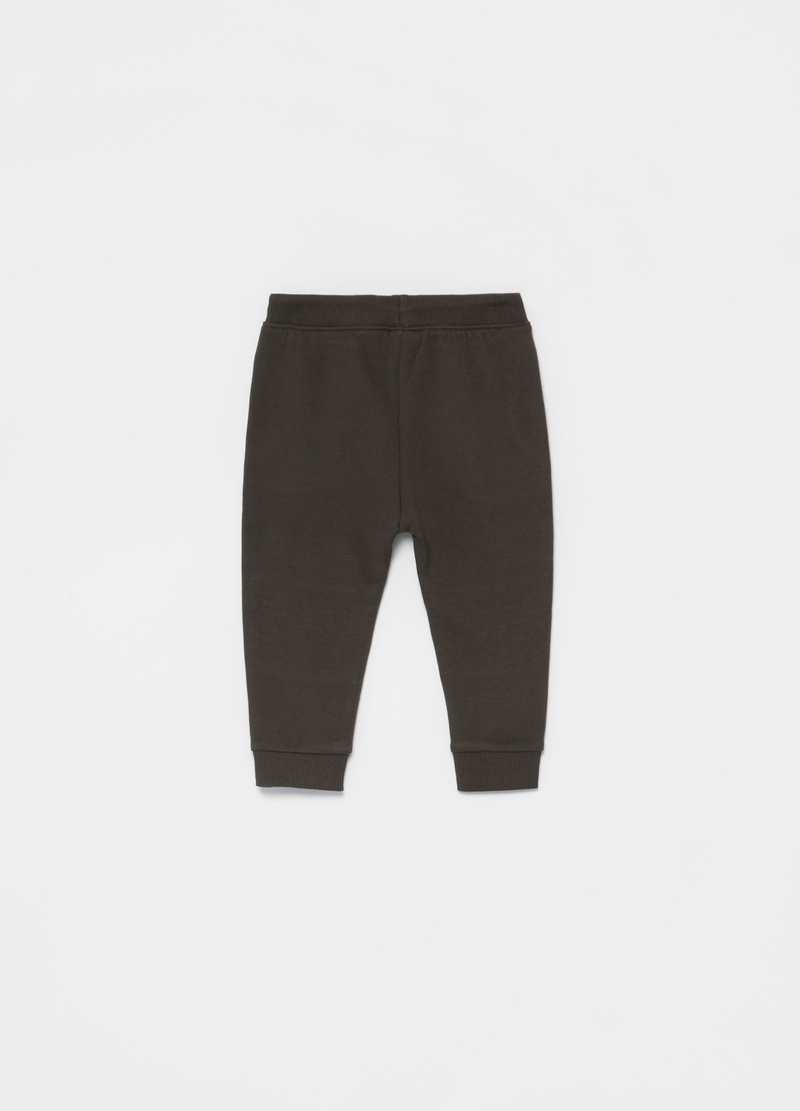 Organic cotton joggers with striped insert image number null