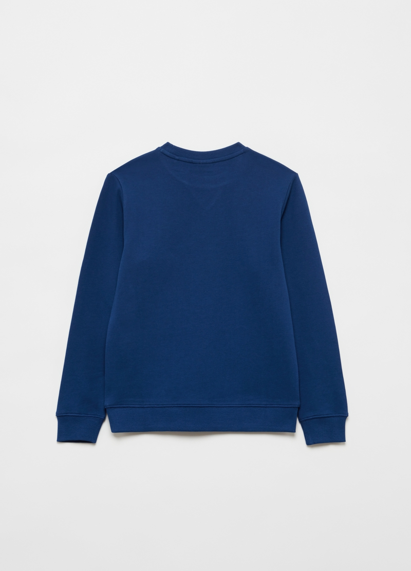 100% cotton fleece with round neck image number null