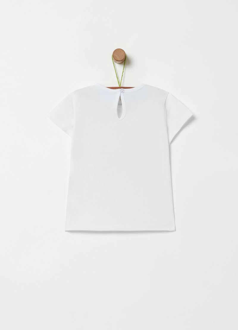 Printed cotton stretch T-shirt image number null