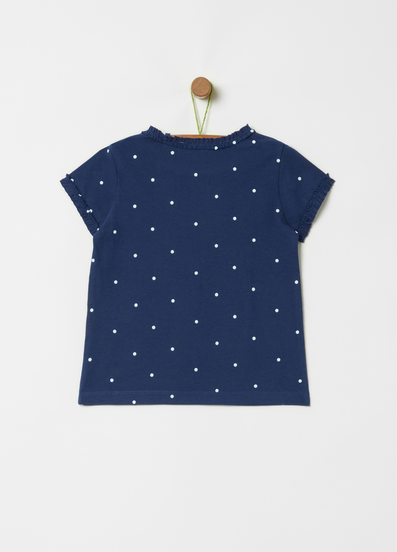 100% cotton T-shirt with all-over polka dots image number null