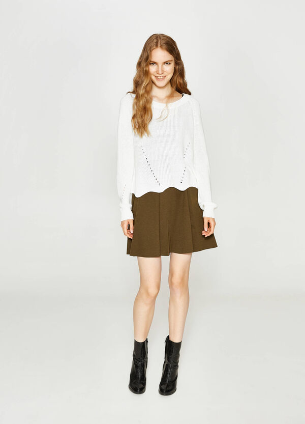 Full stretch skirt with pleats | OVS